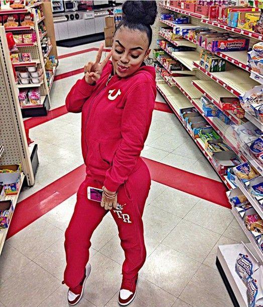 jacket true religion sweat suite sweatpants tracksuit pink