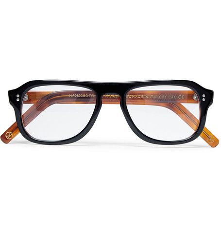 6318a571c012 Kingsman Cutler and Gross Tortoiseshell Acetate Square-Frame Optical Glasses