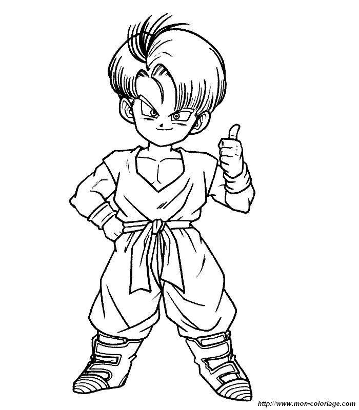 Laminas Para Colorear Coloring Pages Dragon Ball Gt Para