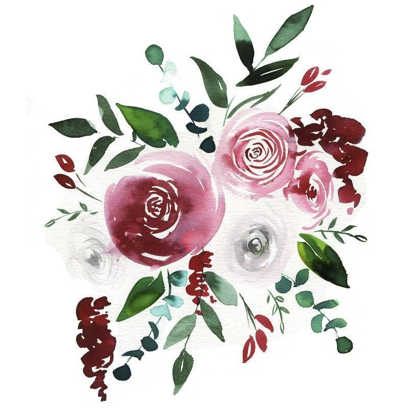 December Florals Watercolor Kit In 2020 Floral Watercolor Let S