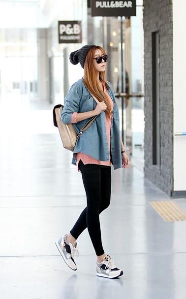 6afd56e3e1a4ff Cute casual...change the shoes to vans or converse tho Korea Fashion