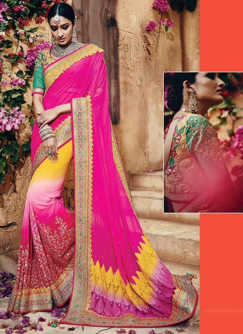 Designer Saris online shopping in USA UK Canada Buy Famed Multi ...