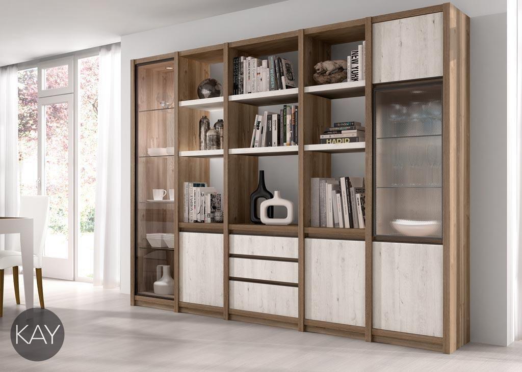 Estanterías con puertas, vitrinas y cajones del catálogo KAY | casa ...