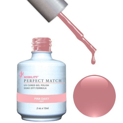 LeChat Perfect Match Gel / Lacquer Combo - Pink Daisy 0.5 oz - #PMS05