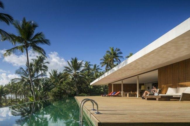 Wohnzimmer Palme ~ Terrassen design pool fenster wohnzimmer palmen ausblick ozean