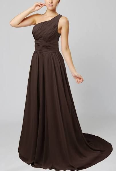 bfef9d86a1c Chocolate Brown Bridesmaid Dress Maternity Plus Size Evening Formal  Pregnant Chiffon Length Modest Wear Gown Full