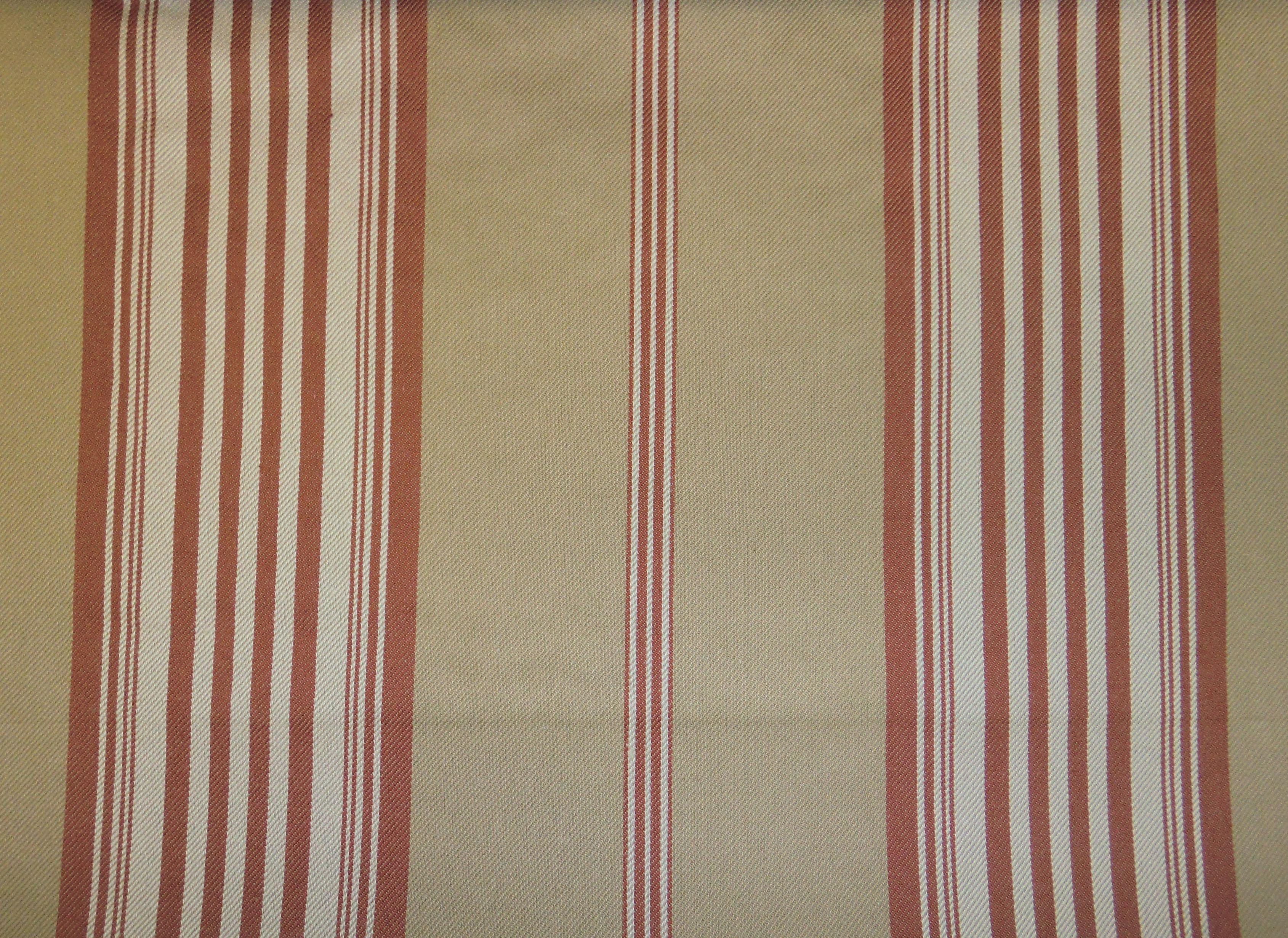 Ralph Lauren Lila Ticking Stripe Red Fabric Ticking Stripe