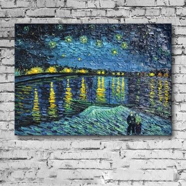 Vincent Van Gogh Starry Night Over the Rhone canvas wall art will ...