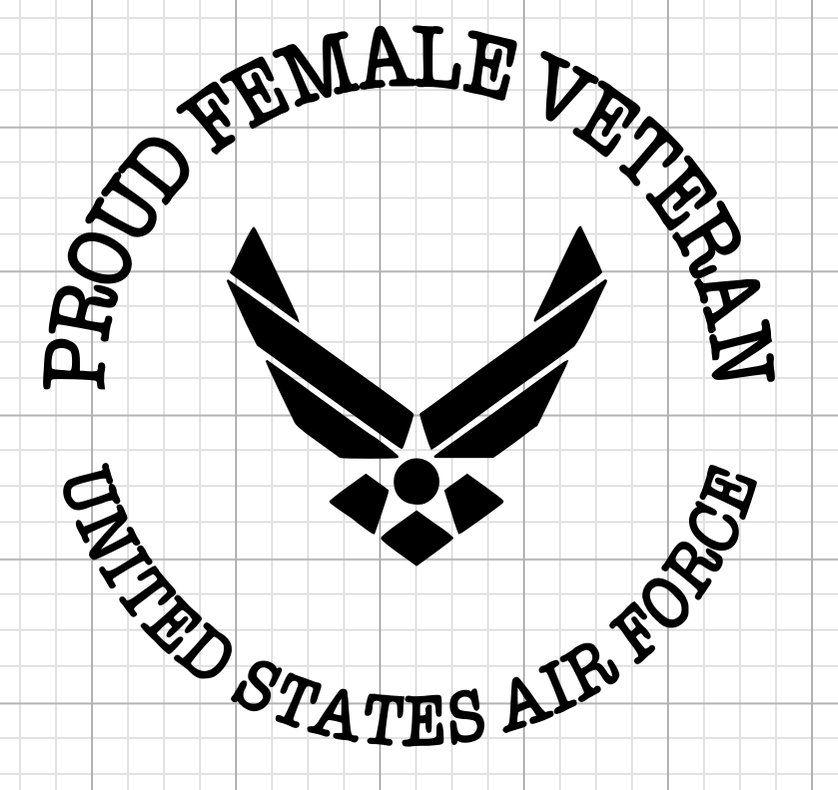 Download Proud Female Air Force Veteran Decal | Air force veteran ...