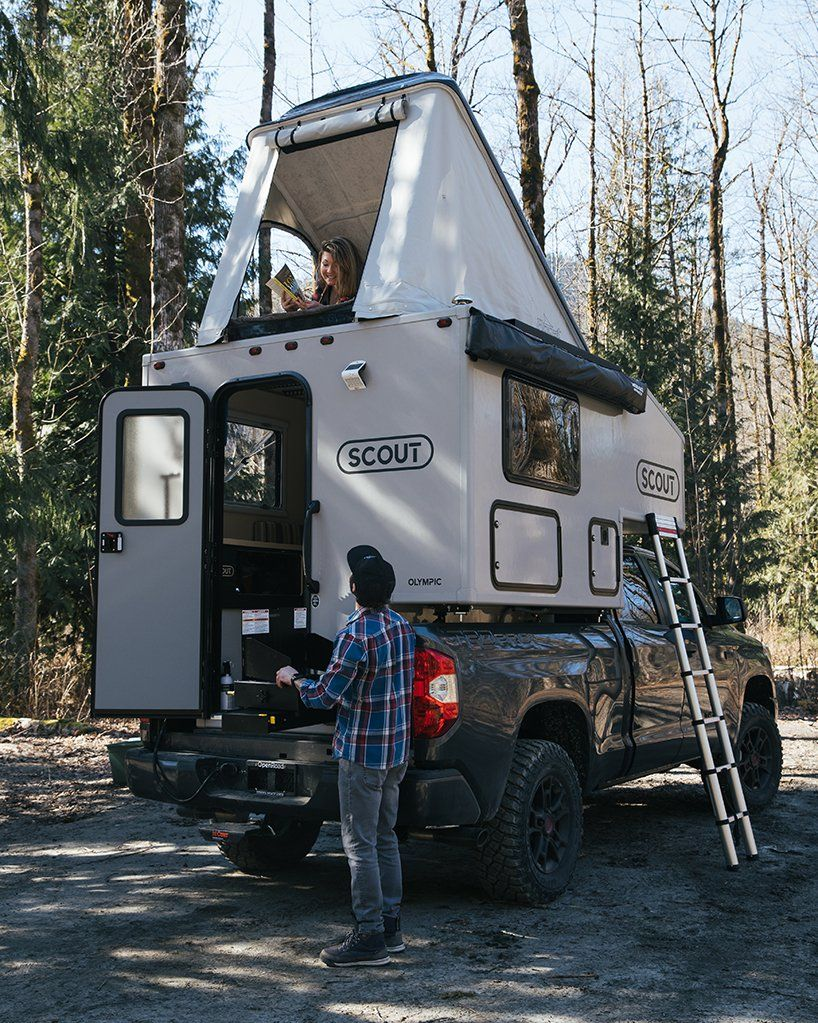 this truck shell by SCOUT campers features detachable