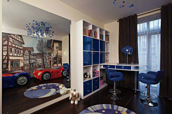 Kinderzimmer junge wandgestaltung auto  ▷ 1001+ Ideen für Kinderzimmer Junge - Einrichtungsideen ...