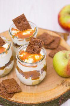 Apfel-Karamell-Dessert - Rezept | verzuckert-blog.de #dessertideeën