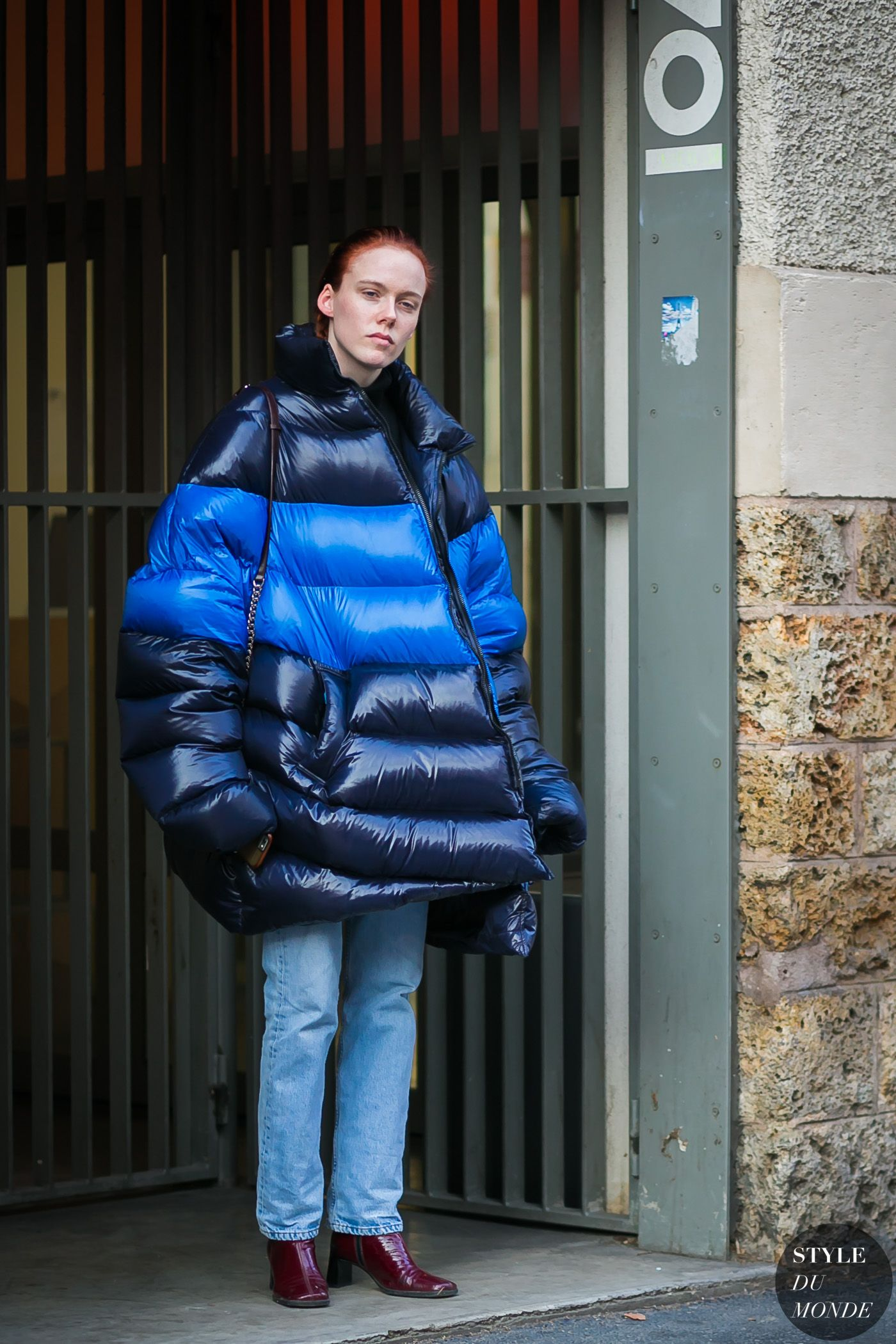 Kiki Willems | Street style outfit, Puffer jacket women