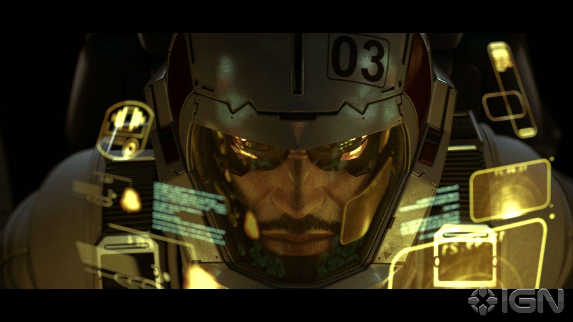 Adam Jensen Deus Ex Human Revolution HUD Games Helmets Wallpaper