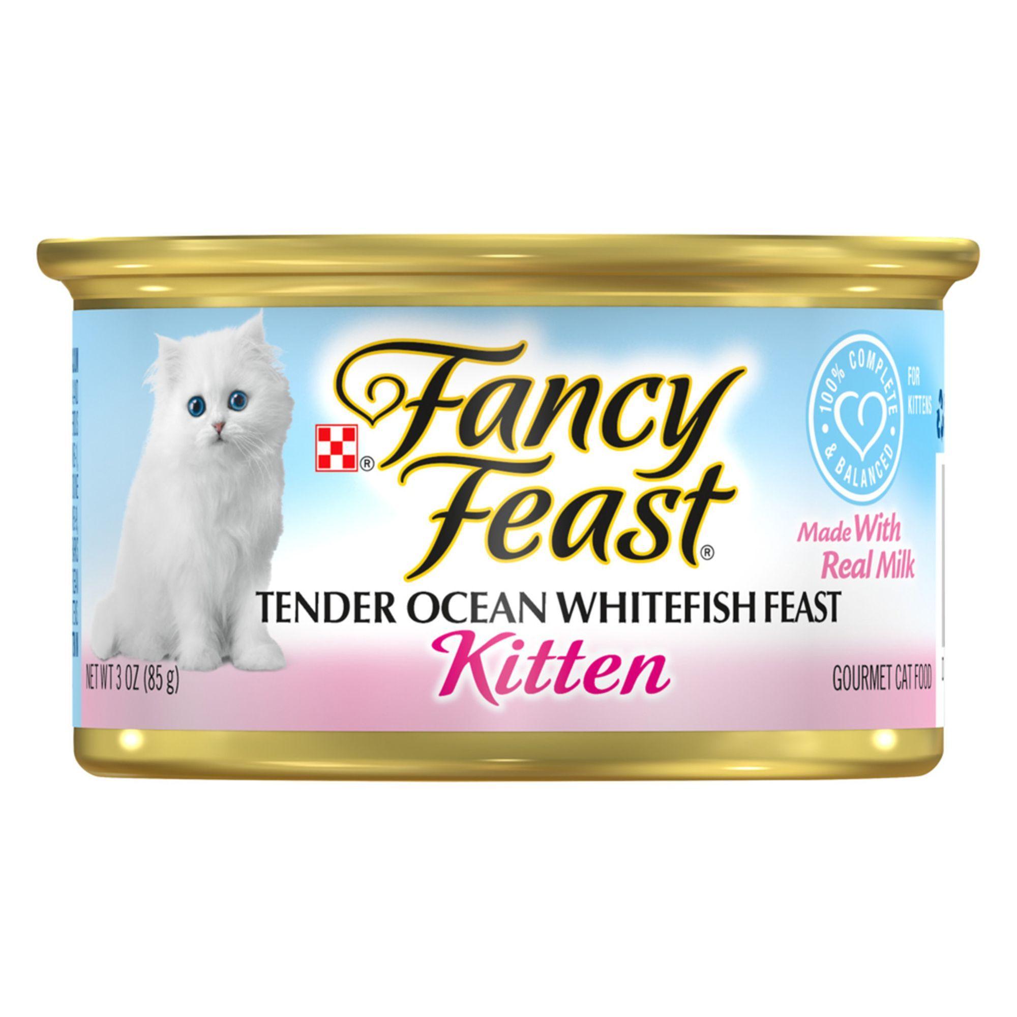 Fancy Feast Gourmet Kitten Food Size 3 Oz Ash Copper Gum Ocean