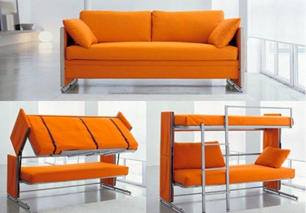 15 Incredibly Satisfying Space Saving Furniture Designs Cool Couches Couch Bunk Beds Futon Bunk Bed