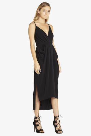 Faux Wrap Midi Dress | Womens midi dresses, Dresses, Midi ...