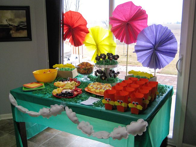 The Lorax themed baby shower.  Food  decoration ideas!