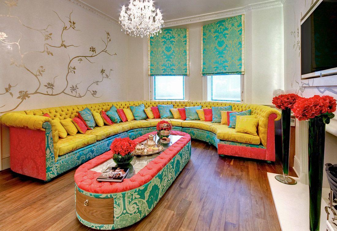 Vintage home interior furniture eccentric living room ideas