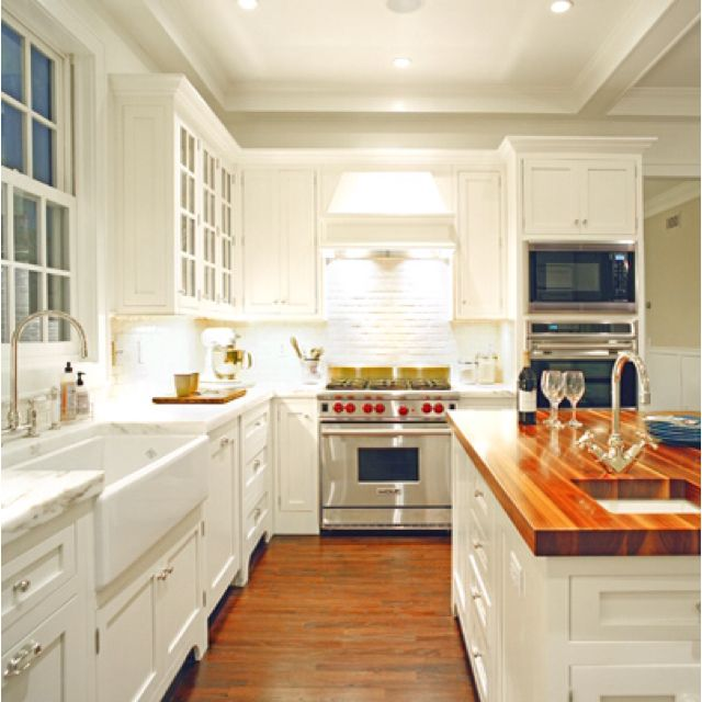 Sarah Richardson Design - Kitchen Love the lighting in this kitchen, ceiling and under cabinets