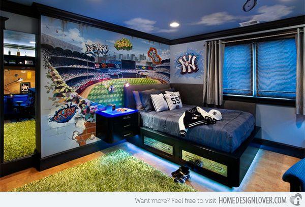 get athletic with 15 sports bedroom ideas | ragazzi, idee per la