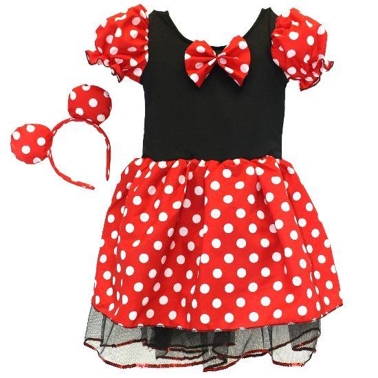 Minnie Mouse Dress w/ Ears