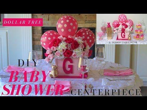 DOLLAR TREE DIY BABY SHOWER DECOR DIY GIRL BABY SHOWER CENTERPIECE - baby shower nia