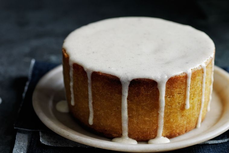 Macadamia and orange cake with burnt butter icing