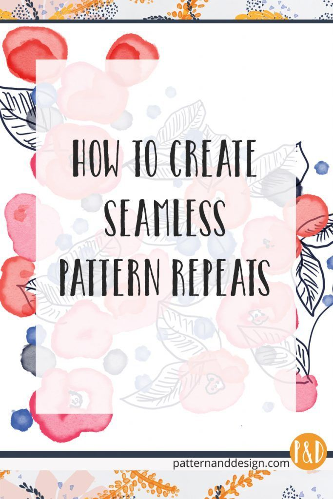 How to create seamless surface pattern repeats