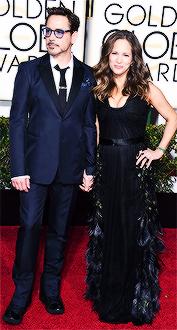 Robert Downey Jr. and Susan Downey at the Golden Globe Awards