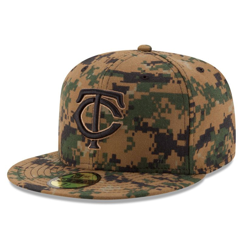 Minnesota Twins New Era 2016 Memorial Day 59FIFTY Fitted Hat - Digital Camo bf7deb52e41