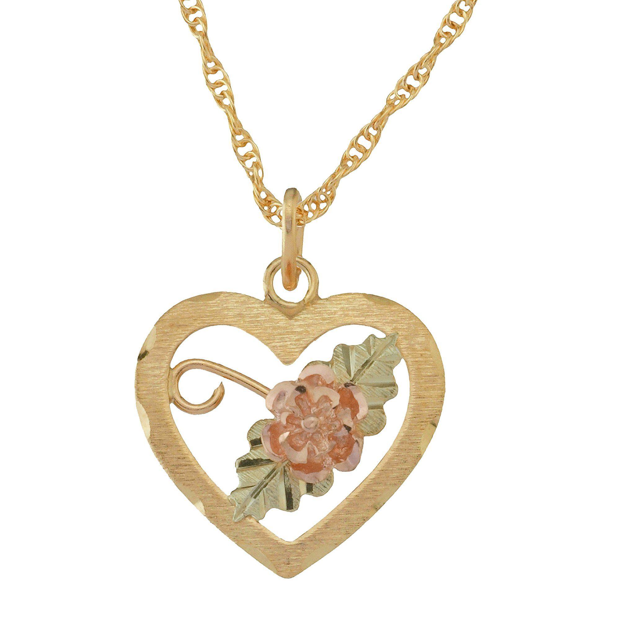 Rose diamond cut black hills gold pendant necklace dakota rose diamond cut black hills gold pendant necklace aloadofball Gallery