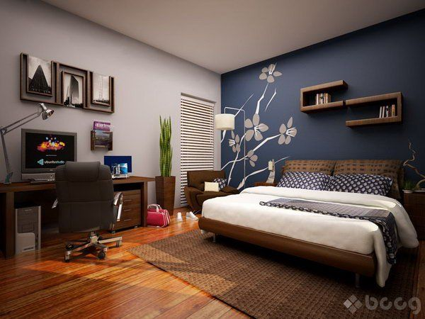 Blue Master Bedroom Paint Color Ideas I Like The Balance Of With White Browns