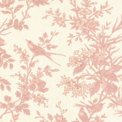 AVIARY quilt fabric Moda 3 Sisters PINK TOILE by melodyoftheheart ... : toile quilting fabric - Adamdwight.com