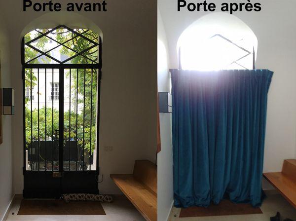 Avantages et inconvénients d\u0027une portière pour isoler une porte d