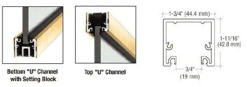 """CRL Polished Brass 120"""" """"U"""" Channel with Roll-In Top Load Gasket by CR Laurence by CR Laurence. $381.92. Uses Top Loading Roll-In Glazing Gasket for 3/8"""" and 1/2"""" (10 and 12 mm) Glass Ideal for Ceiling or Floor Installations Six Standard Architectural Finishes Custom Finishes and Powder Painting Available Custom Lengths Available RED-E to Ship Models From CRL Inventory CRL Regular U-Channel With Top Load Roll-In Glazing Gasket was designed to be used with 3/8 in..."""