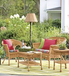 Value-Priced Lightweight, All-Weather Resin Outdoor Wicker Seating