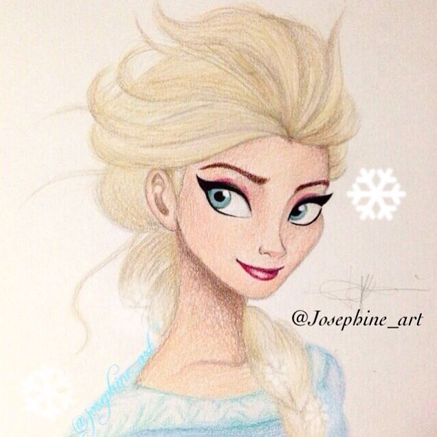 My Drawing Of Elsa From Disney S Frozen Using Prisma