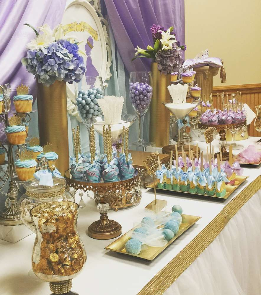 Royal prince and princess baby shower baby shower party for Princess dekoration