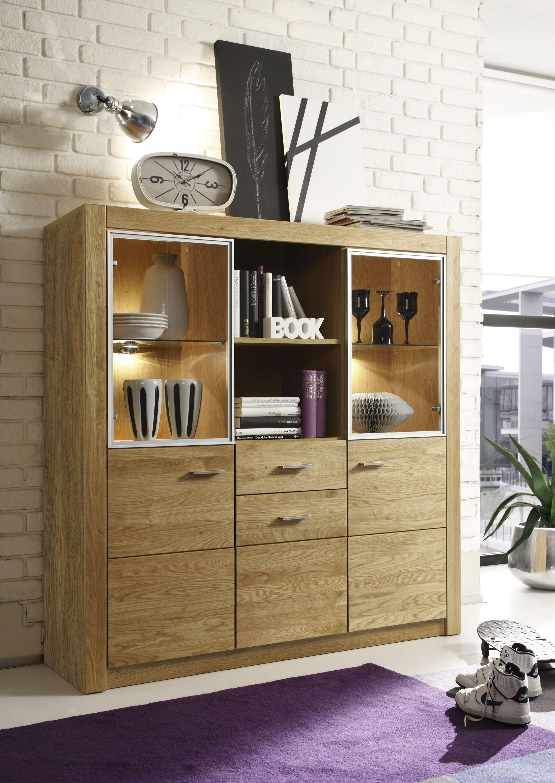 Highboard Asteiche Geölt Teilmassiv Woody 25 00157 Holz Modern Jetzt  Bestellen Unter: Https: