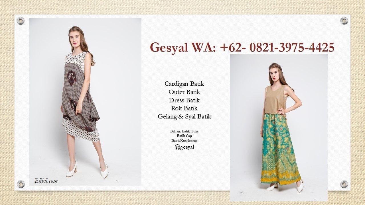 Dress Batik Tulis Solo, Dress Batik Tumpal, Dress Batik Untuk
