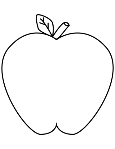 Green Apple Coloring Page Free Printable Coloring Pages Apple Coloring Pages Free Large Images Apple Apple Coloring Pages Coloring Pages Fruit Coloring Pages