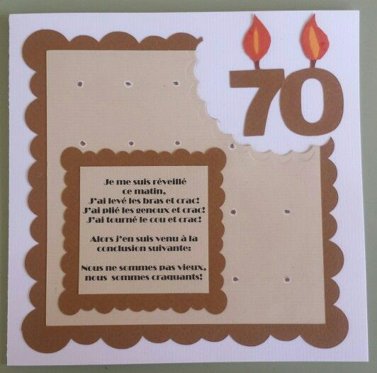 Voeux Anniversaire 70 Ans