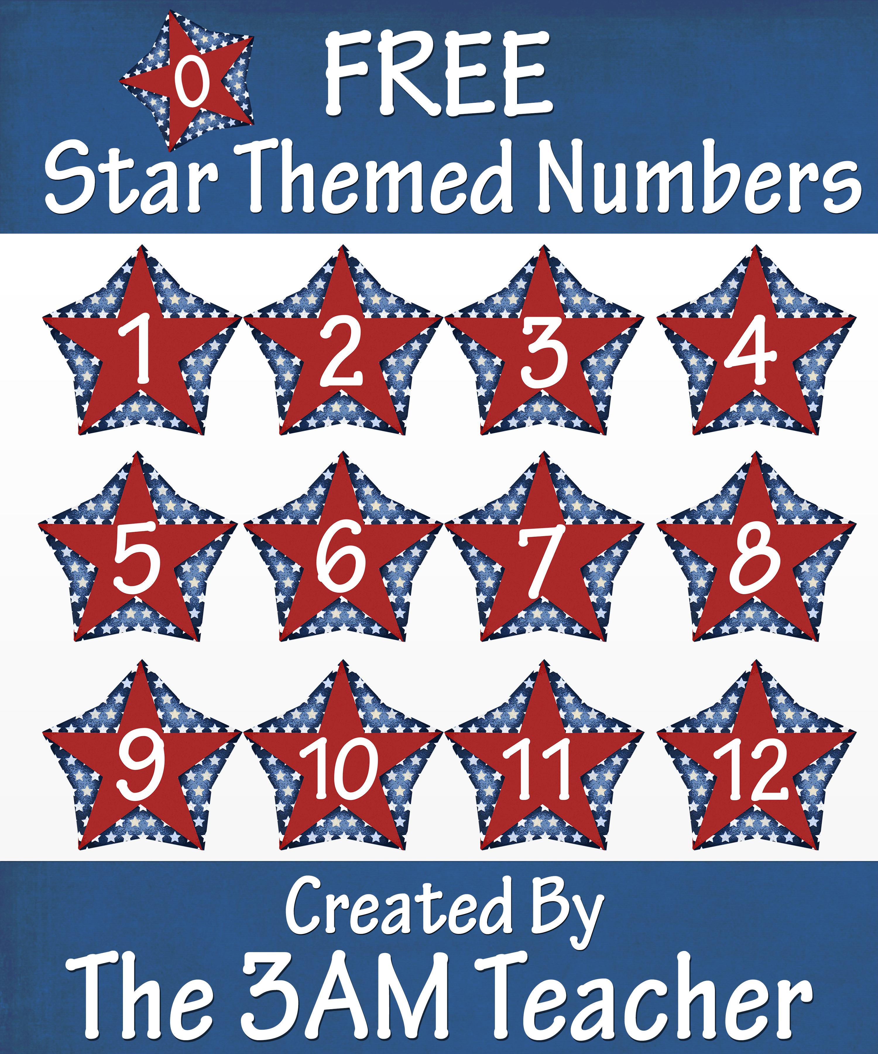 Free On Tpt 4th Of July Themed Numbers Clip Art 0 12