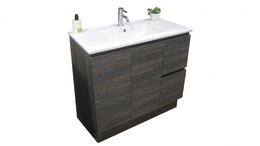 Forme Parclane 900 Floor Standing Vanity Dark Oak Bathroom Vanities Basins Tiles Renovations Harvey Norman Australia