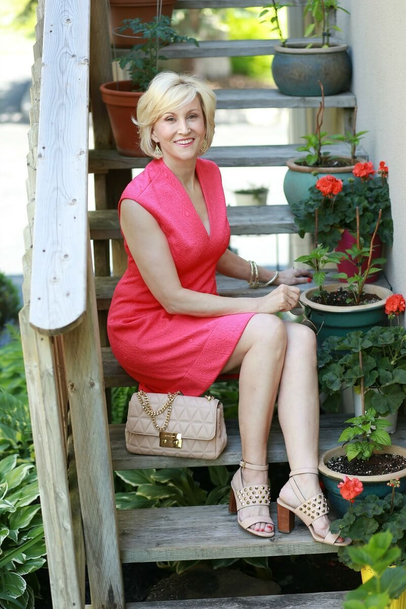 Hot Pink Dress Has A Happy Summer Feel Fabulous After 40 Hot Pink Dresses Pink Summer Dress Midlife Fashion [ 1200 x 800 Pixel ]