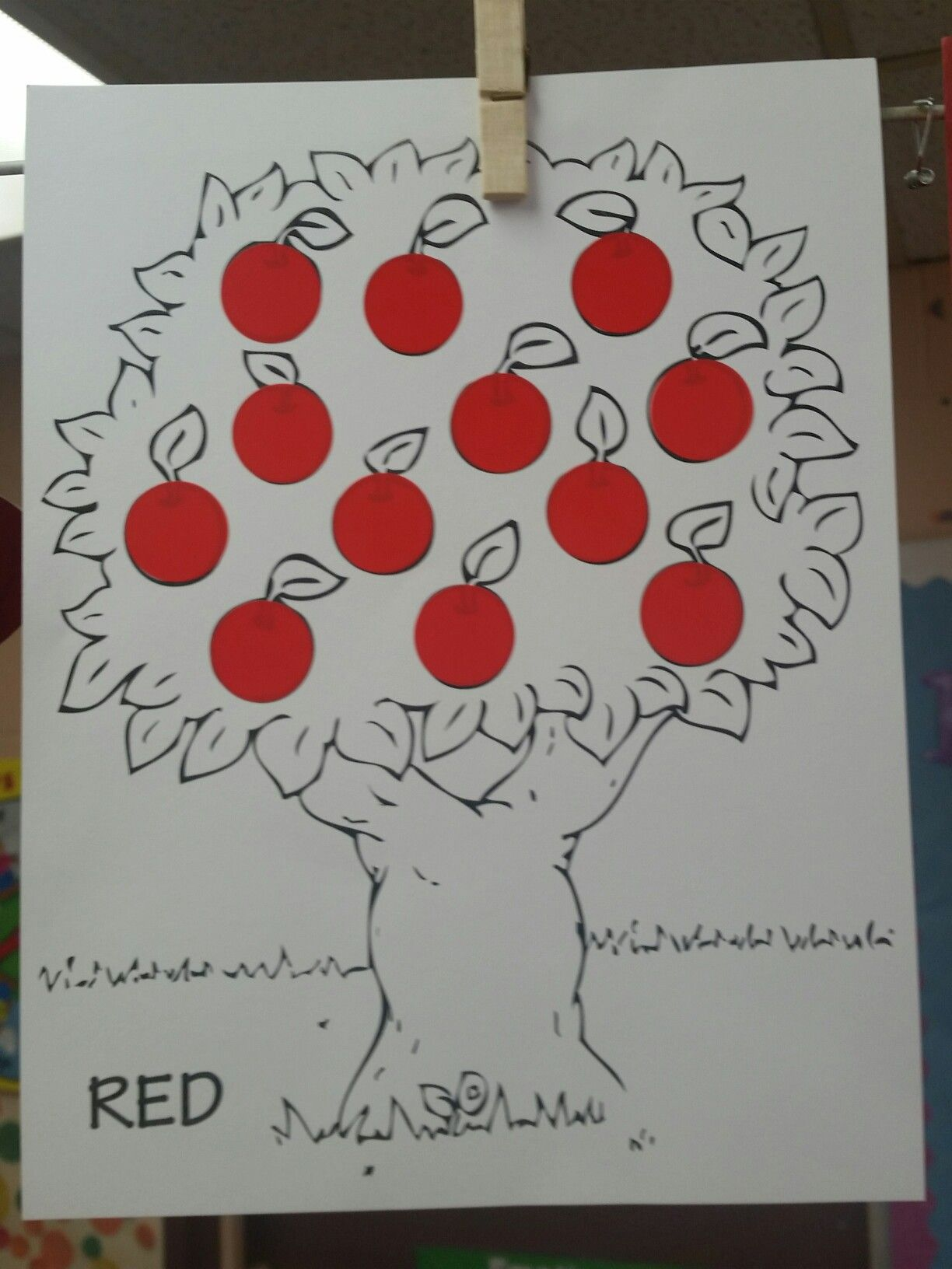 Color Red Craft Project For Preschool Age Children