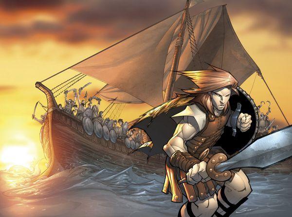 El rey colocó el vellocino de oro,  en un árbol, el cual era vigilado sin descanso por un dragón. El  vellocino se convirtió en un símbolo de abundancia y prosperidad,  las tierras de Cólquide fueron las más prósperas gracias a su gran  poder.  La segunda parte de esta historia: Es  la del viaje de Jasón, el arquetípico héroe ariano, y sus  cincuenta argonautas, luego de años resguardado por el temible  guardián, el vellocino fue conquistado por Jasón.