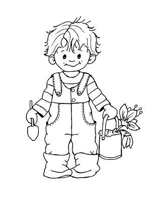 Jardinero Dibujos Para Ninos Dibujos Infantiles Maquinas De Bordar
