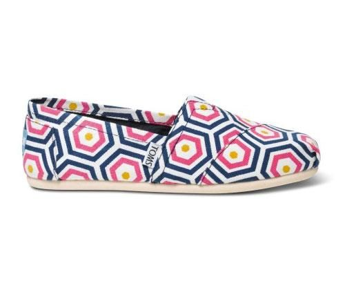 Get mom these cute Jonathan Adler for TOMS slip-ons and a pair of new shoes will be donated to a child in need.